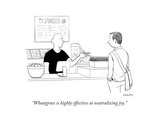 """Wheatgrass is highly effective at neutralizing joy."" - New Yorker Cartoon Giclee Print by Alex Gregory"