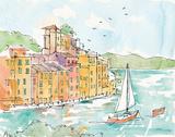 Portofino II Plakater af Anne Tavoletti