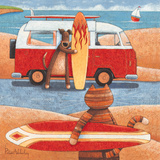 Surfing Showdown Posters by Peter Adderley