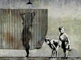 Shower Peepers Giclée-tryk af  Banksy