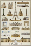 Monuments Of Paris Posters