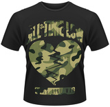 All Time Low- Feels Like War Cammo Heart T-shirts
