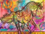 Unicorn Giclee-trykk av Dean Russo