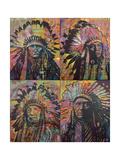 Chiefs Quadrant Giclee Print by Dean Russo