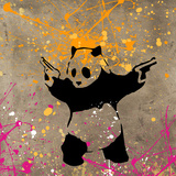 Panda with Guns Giclée-tryk af  Banksy
