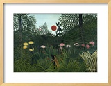 Virgin Forest with Setting Sun, C. 1910 Framed Giclee Print by Henri Rousseau