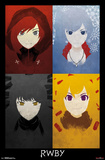 RWBY- Team Character Panels Pôsters