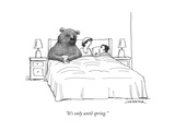 """It's only until spring."" - New Yorker Cartoon Premium Giclee Print by Joe Dator"