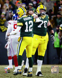 NFL: Aaron Rodgers & T.J. Lang 2016 NFC Wild Card Game Photo