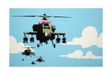 Vapor Helicopter UAV Reproduction procédé giclée par  Banksy