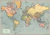 Mondo Moderno (Modern World)- World Map Plakat