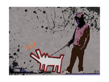 Choose the dog Giclee Print by  Banksy
