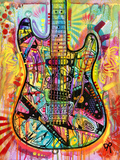Guitar Giclee Print by Dean Russo