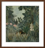 The Equatorial Jungle, 1909 Framed Giclee Print by Henri Rousseau