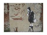 Ratgirl Reproduction procédé giclée par  Banksy