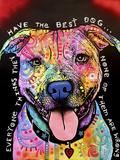 Best Dog Giclee-trykk av Dean Russo