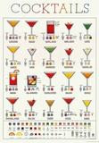 Cockails Recipe Infographic Prints