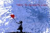 128 Balloon Girl Gicléedruk van  Banksy