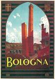 Bologna- Vintage Travel Poster Poster