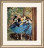 Dancers in Blue, c.1895 Framed Giclee Print by Edgar Degas