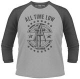 Long Sleeve: All Time Low- Block Emblem (Raglan) T-Shirts