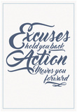 Excuses And Action Script Posters