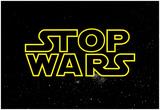 STOP WARS - Gold ポスター