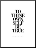 To Thine Own Self Be True Mounted Print by Brett Wilson