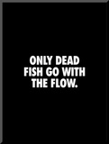 Only Dead Fish Go With the Flow Mounted Print by Brett Wilson