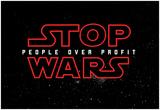 STOP WARS - People over Profit Kunstdrucke