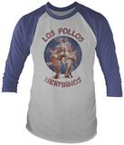 Long Sleeve: Breaking Bad- Distressed Los Pollos Hermanos (Raglan) Raglans