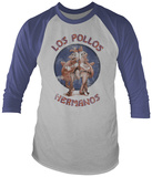 Long Sleeve: Breaking Bad- Distressed Los Pollos Hermanos (Raglan) Skjortor