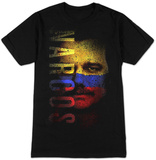 Narcos- Distressed Escobar Flag Face T-Shirt