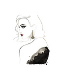 Art Deco Vamp Girl Earring Posters by Jessica Durrant