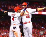 MLB: Yadier Molina & Stephen Piscotty 2016 Action Photo