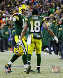 NFL: Aaron Rodgers & Randall Cobb 2016 NFC Wild Card Game Photo