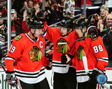 NHL: Jonathan Toews , Artemi Panarin, & Patrick Kane 2016-17 Action Photo