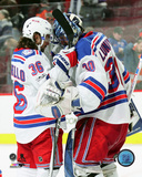 NHL: Mats Zuccarello & Henrik Lundqvist 2016-17 Action Photo