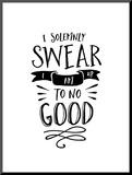 I Solemnly Swear No Good Mounted Print by Brett Wilson