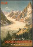 Chemin De Fer Chamonix-Montenvers Mounted Print by  Bourgeois