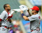 MLB: Jose Martinez & Yadier Molina 2016 Action Photo