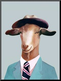 Goat Mounted Print by  Animal Crew