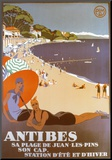 Antibes Mounted Print by Roger Broders