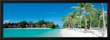 Beautiful Beach on Bora Bora Island - French Polynesia Poster