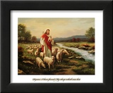 Jesus the Shepherd Prints by Myung Bo
