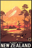 New Zealand, Mt. Egmont Mounted Print by L. C. Mitchell