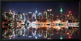 New York City Skyline at Night Art by Deng Songquan