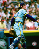 MLB: Ted Simmons 1982 Action Photo