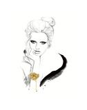Gold Floral Cuff Affiches par Jessica Durrant