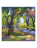 A Walk in the Park Print by Karen Mathison Schmidt